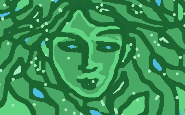 Do I see the Goddess or Leaves